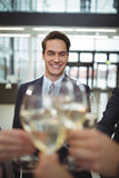 Businesspeople toasting glasses of champagne Stock Image