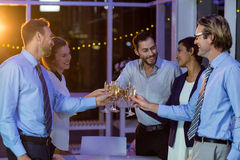 Businesspeople toasting glasses of champagne Royalty Free Stock Images