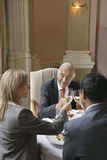 Businesspeople Toasting Wineglasses Royalty Free Stock Images