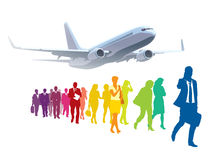 Businesspeople traveling Stock Photo
