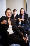 businesspeople tre Arkivbilder