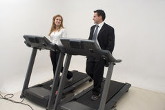 Businesspeople on Treadmill - Horizontal Royalty Free Stock Photo