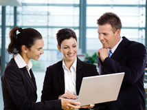 Businesspeople using laptop Royalty Free Stock Photo