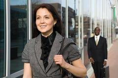Businesspeople walking stock image
