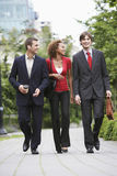Businesspeople Walking Through City Park Royalty Free Stock Photography