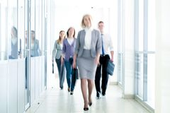 Businesspeople walking Royalty Free Stock Image