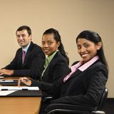 Businesspeople at work. stock image