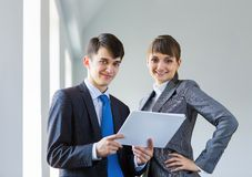 Businesspeople at work Stock Photography