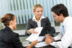 Businesspeople working Stock Images