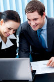 Businesspeople working Stock Photo