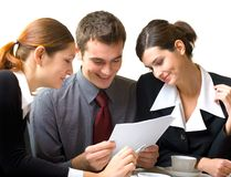Businesspeople working Stock Photography