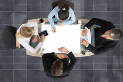 Businesspeople Working At Desk Royalty Free Stock Photography