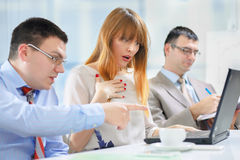 Businesspeople working royalty free stock photo
