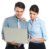 Businesspeople Working At Laptop Stock Photography