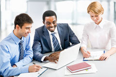 Businesspeople working at meeting Royalty Free Stock Image