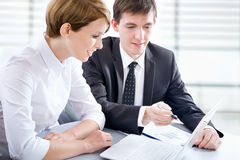 Businesspeople working at meeting Royalty Free Stock Photography