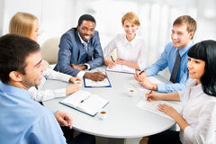Businesspeople working at meeting Stock Photography