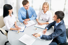 Businesspeople working at meeting Stock Photos