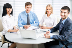 Businesspeople working at meeting Stock Images
