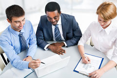 Businesspeople working at meeting Royalty Free Stock Images