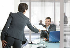 Businesspeople working in office Royalty Free Stock Photo