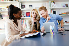 Businesspeople working in office. And solving problems as a team royalty free stock photography
