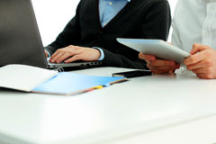 Businesspeople working in office. At the table royalty free stock photography