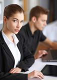 Businesspeople working in office Royalty Free Stock Photos