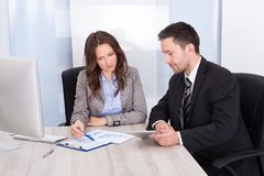 Businesspeople working at office Royalty Free Stock Photography