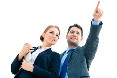 Businesspeople working outdoor Royalty Free Stock Image