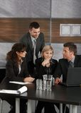 Businesspeople working together stock images