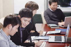 Businesspeople Working Together royalty free stock photography