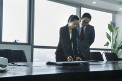 Businesspeople Working Together Royalty Free Stock Photos