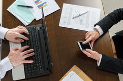Businesspeople working together Stock Photo