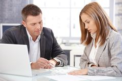 Businesspeople working together in office Royalty Free Stock Photos