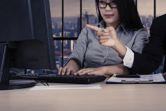 Businesspeople working together in the office Royalty Free Stock Images