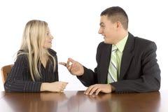 businesspeoplekonversation två royaltyfri fotografi
