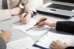 Businesspeople�s hands Stock Photography