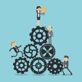 Businesspeoplesymbolsdesign Royaltyfria Bilder