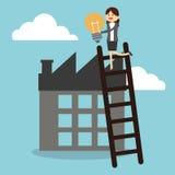 Businesspeoplesymbolsdesign Arkivbilder