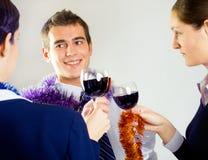 businessperson γιορτάζοντας στοκ φωτογραφία
