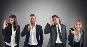 Businessperson agree. Businesspeople agree with projects that improve work Stock Photos