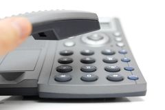 Businessperson is answering the phone Royalty Free Stock Image