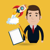 Businessperson avatar design. Illustration eps10 graphic royalty free illustration
