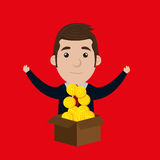 Businessperson avatar  design Royalty Free Stock Images