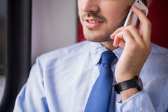 Businessperson being on the phone stock image