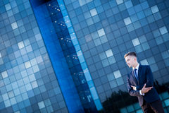 Businessperson in a big city. Image of businessperson in a big city stock photography