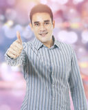 Businessperson with bokeh background Royalty Free Stock Images