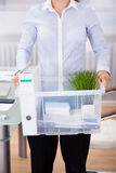Businessperson Carrying Office Supply Stock Images