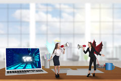 Businessperson on the desktop stock images